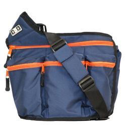 Diaper Dude Zipper Diaper Bag, Navy/Orange