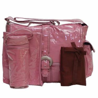 Kalencom Designer Boutique Baby Pink Corduroy Tote Diaper Bag Gift