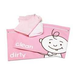 Sugarbooger Dirty and Clean Diaper Bag Organizers, Peek-A-Boo Pink