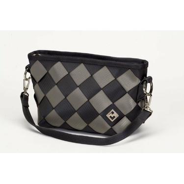 Recycled Seatbelt Hobo-Bag (Gray 2 Tone)