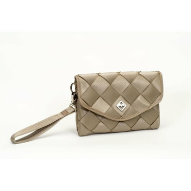 Magie Bags Recycled Seatbelt Clutch (Light Tan)