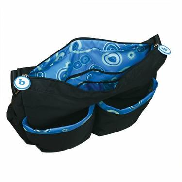 Bumkins Deluxe Diaper Bag, Blue Circle