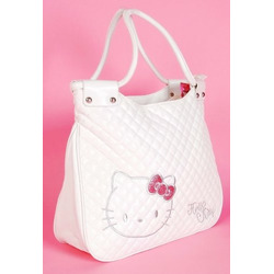 Hello Kitty Ladies Shopping Tote Bag Purse White