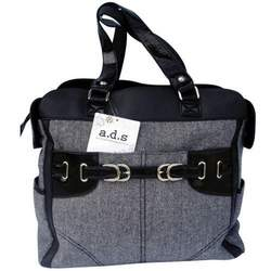 AD Sutton & Sons Herringbone Diaper Bag Black