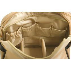 Cevan Metro Vintage Biplane Premium Diaper Bag Coated Canvas, Brown Gloss