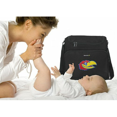 KU Jayhawks University of Kansas Logo College Logo Diaper Bag - Baby Bag - BEST Baby Shower GIFT for New Dad, Father or New Mom Mother GIFTS