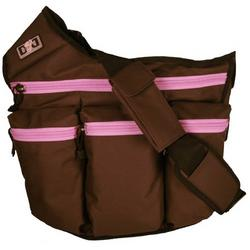 Diaper Dude Diaper Bag - Brown/ Pink