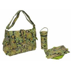 Kalencom Laminated Buckle Bag Multi Paisley Pistachio