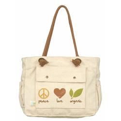 Dandelion Organic Canvas Tote, Peace Love Organic