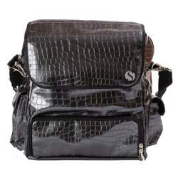 WhodaThought Mrs. Smith's Elite Diaper Bag, Platinum