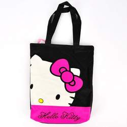 Hello Kitty Tote Shoulder Shopping Bag Tote Black