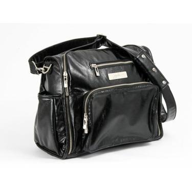 Ju Ju Be Be Fabulous Earth Leather Diaper Bag, Black/Dizzy Daisies