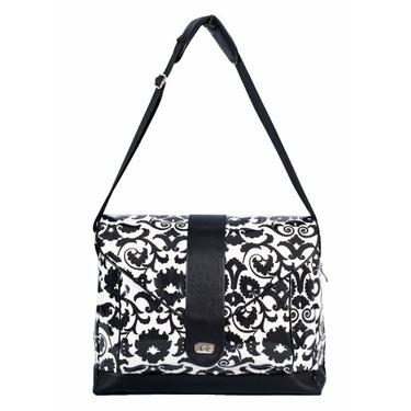 Fleurville MS3 Diaper Bag, Black/White