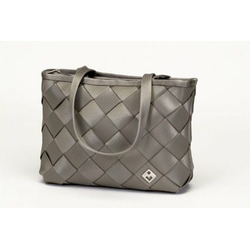Recycled Seatbelt LargeTote-Bag (Light Grey)