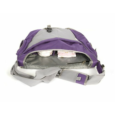 Go GaGa Messenger Bag Made From Recycled Material - Eggplant