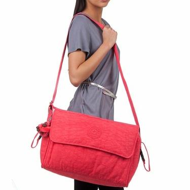 Kipling TM3405 Supernanny Diaper Bag with Changing Pad, Red