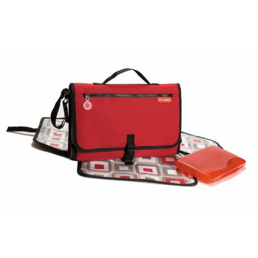 Pronto Diaper Bag in Red