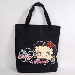 Betty Boop Shopping Shoulder Tote Hand Bag Black