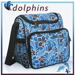 Annie Hill Designer DOLPHINS Diaper Bag - Baby Bag for New Dad Father or Mom NEW Mother Baby Shower Gift Idea