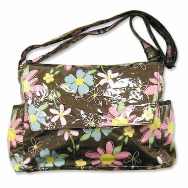 Trend Lab Blossoms Messenger Bag with Changing Pad