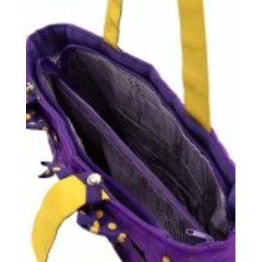 LA Lakers Purple & Gold Quilted Diaper Bag with Changing Pad New