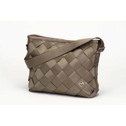 Recycled Seatbelt Large Messenger-Bag (Dark Tan)