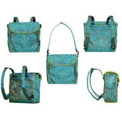 Shanghai Chartreuse Convertible Messenger Diaper Bag