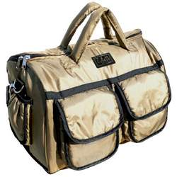 7 A.M. Enfant Voyage Diaper Bag, Metallic Gold, Small