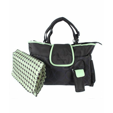 "Carter's ""Out 'n About"" Diaper Bag - black/green, one size"