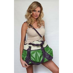 Amy Kathryn Gladiola Diaper Bag (Eggplant)