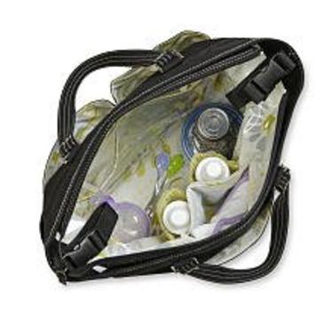 Carter's Bumble Tote Diaper Bag - Black Suede