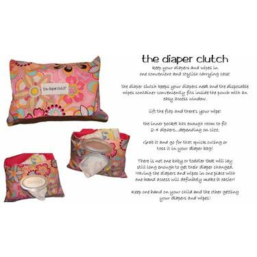 The Diaper Clutch - Black Damask