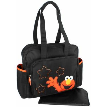 Sesame Street Elmo Stars Large Tote Shoulder Baby Diaper Bag + Changing Pad