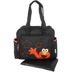 Sesame Street Elmo Stars Large Tote Shoulder Baby Diaper Bag + Changing Pad