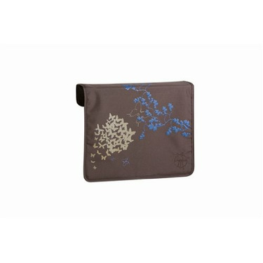 Lassig Eco-friendly Front Cover for Messenger Bag, Butterfly Choco