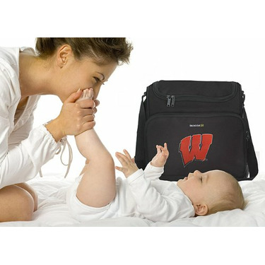 University of Wisconsin Logo UW Badgers College Logo Diaper Bag - Baby Bag - BEST Baby Shower GIFT for New Dad, Father or New Mom Mother GIFTS
