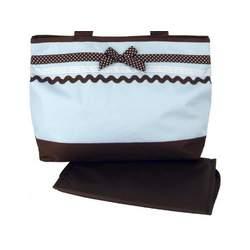 Baby Essential Blue Polka Dots Ribbon Shoulder Diaper Bag