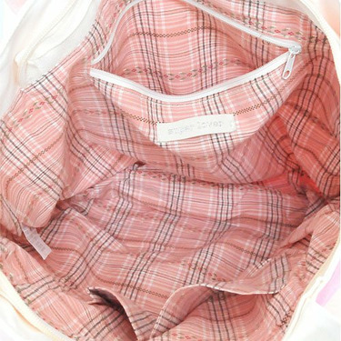 Super Lover Doggies Shoulder Tote Canvas Bag Pink S4