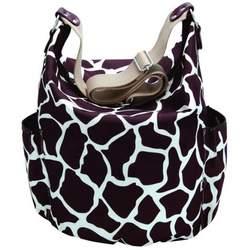 Giraffe Print Hobo Sack in Cocoa