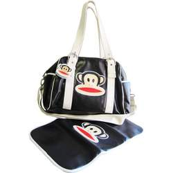 Paul Frank Bowler Style Diaper Bag, Black