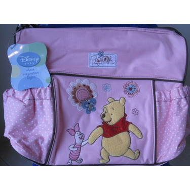 Large Disney Winnie the Pooh Diaper Bag Color Pink