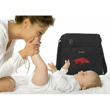 University of Arkansas Razorbacks Logo College Logo Diaper Bag - Baby Bag - BEST Baby Shower GIFT for New Dad, Father or New Mom Mother GIFTS