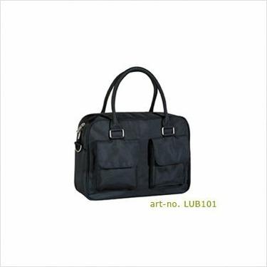 Lassig Urban Eco-Friendly Diaper Bag, Glam Black