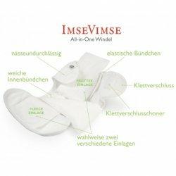 Imse Vimse White All-In-One Diaper - Newborn