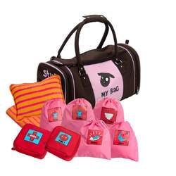 Kushies My Bag - The Ultimate Daycare/Overnight Bag, Girl Brown/Pink