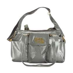 Baby Phat Textured Patent Leather Diaper Tote - gray, one size