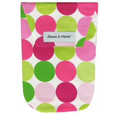 Diapees and Wipees Accessory Bag - Sorbet Disco Dot