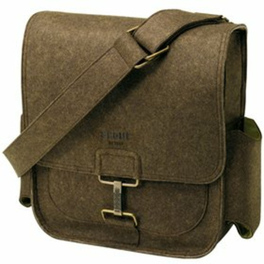 Petunia Picklebottom Gray Felt Journey Pack Diaper Tote