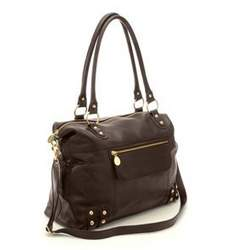 Nest Hudson Leather Diaper Bag in Chocolate Brown