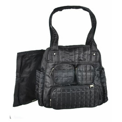 "Graco ""Flair"" Quilted Diaper Tote - black, one size"
